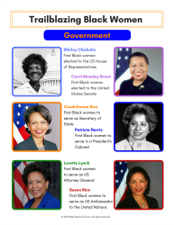 Black Female Firsts in Government